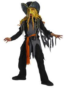 Pirates of the Caribbean Adult Costume #6699G Davey Jones Quality (Child Large 10-12)