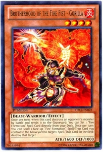 YuGiOh Zexal Cosmo Blazer Single Card Rare CBLZ-EN023 Brotherhood of the Fire Fist - Gorilla