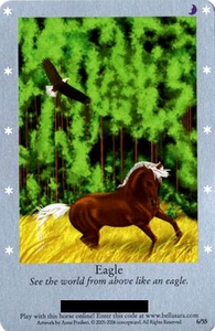 Bella Sara Horses Trading Card Game Series 1 Single Card 6/55 Eagle
