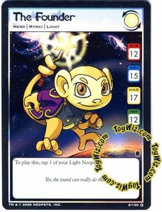 Neopets Trading Card Game Haunted Woods Holofoil Single Card #6 The Founder