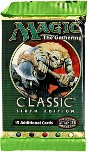 Magic the Gathering Classic Sixth 6th Edition Booster Pack [15 cards]