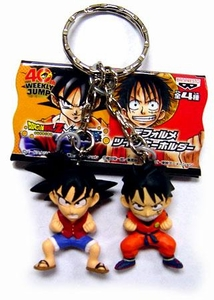 Dragonball x One Piece Mini 1.5 Inch PVC Keychain Pair Goku & Luffy