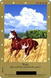 Bella Sara Horses Trading Card Game Series 2 Single Card Rare 76/97 Rain