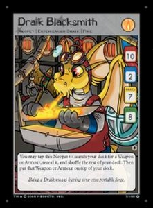 Neopets Darkest Faerie Holofoil Single Card #7 Draik Blacksmith