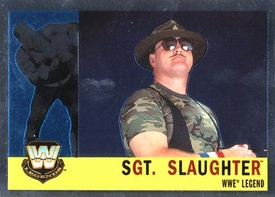 Topps CHROME WWE Heritage Trading Card Legend # 86 Sgt. Slaughter