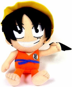 Dragonball X One Piece 6 Inch Plush Luffy as Goku