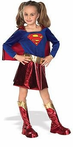 Comic Book Super Heroes Kids Costume Deluxe Supergirl (Child-Small Size) #882314