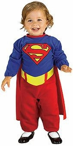 Comic Book Super Heroes Kids Costume Supergirl Romper  (Newborn Size) #885302