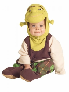 Shrek Rubies Costume Baby Shrek Romper (Infant Size) #885331