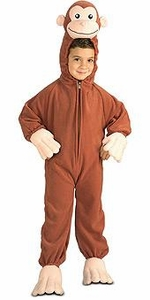 Curious George Kids Costume Fleece Curious George (Child Toddler Size) #885500