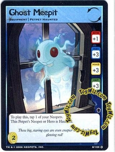 Neopets Trading Card Game Haunted Woods Holofoil Single Card #8 Ghost Meepit