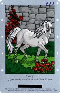 Bella Sara Horses Trading Card Game Series 1 Single Card 9/55 Grey