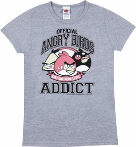 Angry Birds Women's Printed T-Shirt Addict