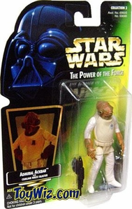 Star Wars POTF2 Power of the Force Hologram Card Admiral Ackbar w/ Comlink Wrist Blaster
