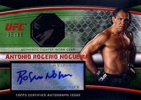 UFC Topps Ultimate Fighting Championship 2010 Knockout Single Card Green Autograph Relic AFG-ARN Antonio Rogerio Nogueira 35/88