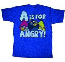 Angry Birds Adult Printed T-Shirt A is For Angry BLOWOUT SALE!
