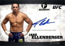 UFC Topps Ultimate Fighting Championship 2010 Knockout Single Card Silver Autograph A-JE Jake Ellenberger 167/188 1st Autograph