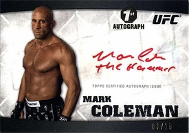 UFC Topps Ultimate Fighting Championship 2010 Knockout Single Card Red Ink Autograph A-MCO Mark Coleman 3/15 1st Autograph