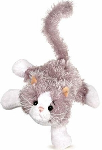 Lil'Kinz Mini Plush Gray & White Cat
