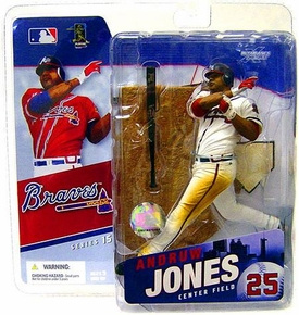 McFarlane Toys MLB Sports Picks Series 15 Action Figure Andruw Jones (Atlanta Braves) White Jersey Variant