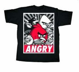 Angry Birds Adult Printed T-Shirt Propaganda BLOWOUT SALE!