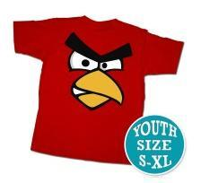Angry Birds Youth Printed T-Shirt Red Face