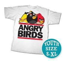 Angry Birds Youth Printed T-Shirt Run Birds