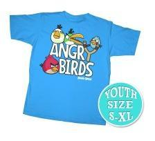 Angry Birds Youth Printed T-Shirt Sling Shot