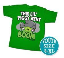 Angry Birds Youth Printed T-Shirt This Lil Piggy