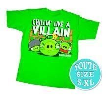 Angry Birds Youth Printed T-Shirt Chillin Like A Villain
