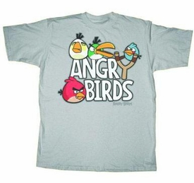 Angry Birds Adult Printed T-Shirt Sling Shot