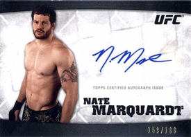 UFC Topps Ultimate Fighting Championship 2010 Knockout Single Card Silver Autograph A-NM Nate Marquardt 159/188