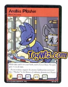 Neopets Trading Card Game Lost Desert Single Card Uncommon 48/100 Anubis Plushie