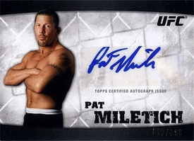 UFC Topps Ultimate Fighting Championship 2010 Knockout Single Card Silver Autograph A-PM Pat Miletich 12/188