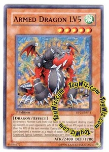 YuGiOh GX Duelist Pack Chazz Single Card DP2-EN011 Armed Dragon LV5