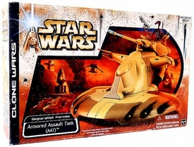 Star Wars Clone Wars Vehicle Armored Assault Tank [AAT] Damaged Package, Mint Contents!