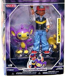 Pokemon Diamond & Pearl Exclusive Deluxe Action Figure Trainer Set Ash & Aipom