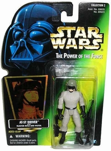 Star Wars Power of the Force Green Card Hologram Action Figure AT-ST Driver
