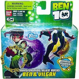 Ben 10 Transforming Alien Rocks 1 Inch Mini Figure Set Ben & Vilgax