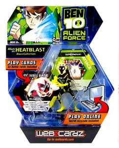 Ben 10 Alien Force Web Cardz Game Starter Set with Figure Alan as Heatblast