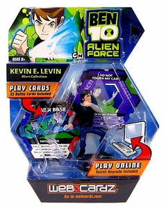 Ben 10 Alien Force Web Cardz Game Starter Set with Figure Kevin E. Levin