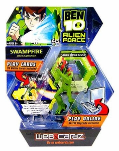 Ben 10 Alien Force Web Cardz Game Starter Set with Figure Swampfire BLOWOUT SALE!