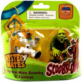 Scooby-Doo Mystery Mates Figure 2-Pack Space Man Scooby & Zombie