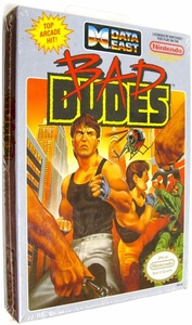 Nintendo Entertainment System NES Factory Sealed Cartridge Game Bad Dudes RARE!