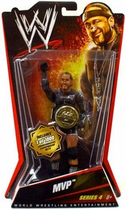 Mattel WWE Wrestling Basic Series 4 Action Figure MVP [Commemorative Championship Belt]