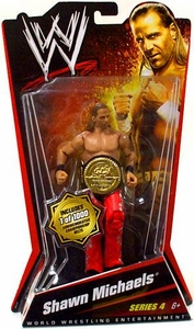 Mattel WWE Wrestling Basic Series 4 Action Figure Shawn Michaels [Commemorative Championship Belt]