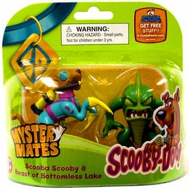 Scooby-Doo Mystery Mates Figure 2-Pack Scooba Scooby & Beast of Bottomless Lake
