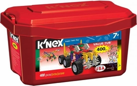 K'NEX 400 Piece Value Red Tub