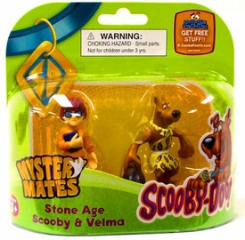 Scooby-Doo Mystery Mates Figure 2-Pack Stone Age Scooby & Velma