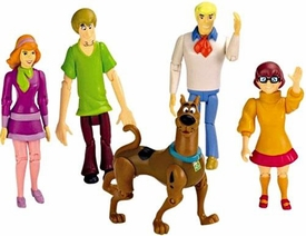 Scooby-Doo Mystery Mates Action Figure 5-Pack Mystery Solving Crew [Fred, Scooby Doo, Shaggy, Velma & Daphne]